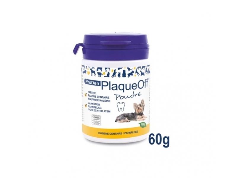 ProDen PlaqueOff® /60 g/  ПУДРА за премахване на зъбен камък и плака  - за Кучета