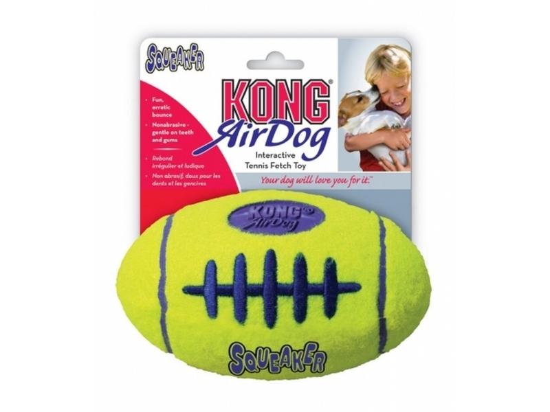 Играчка за кучета Kong AIR SQUEAKER FOOTBALL Small