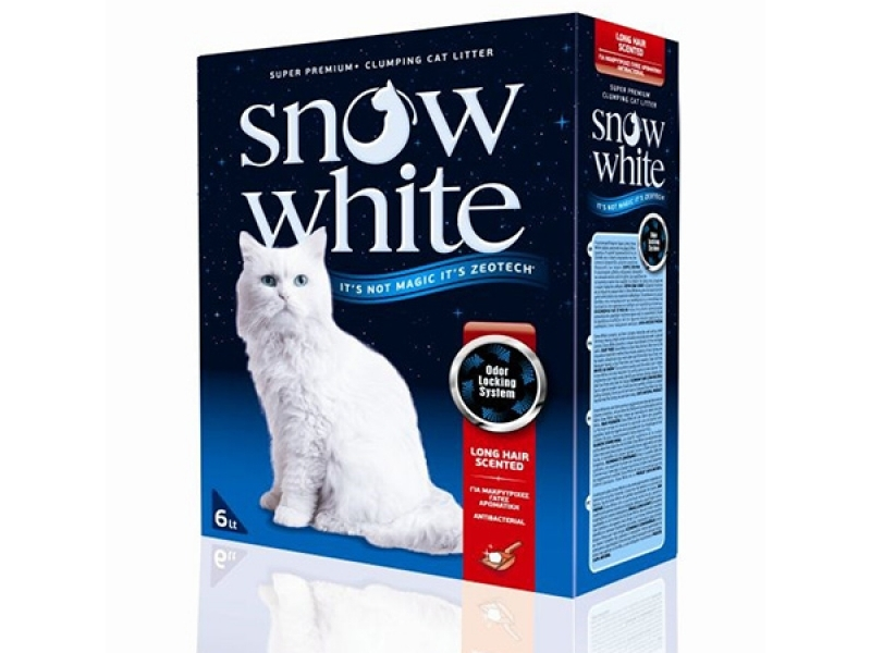 Котешка тоалетна - Snow White Long Hair Scented 6L