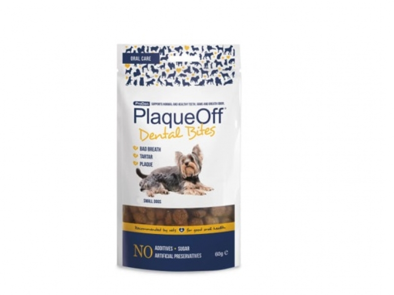 Лакомство PlaqueOff®Dental Bites /60 g/  за Малки Породи Кучета до 10 кг