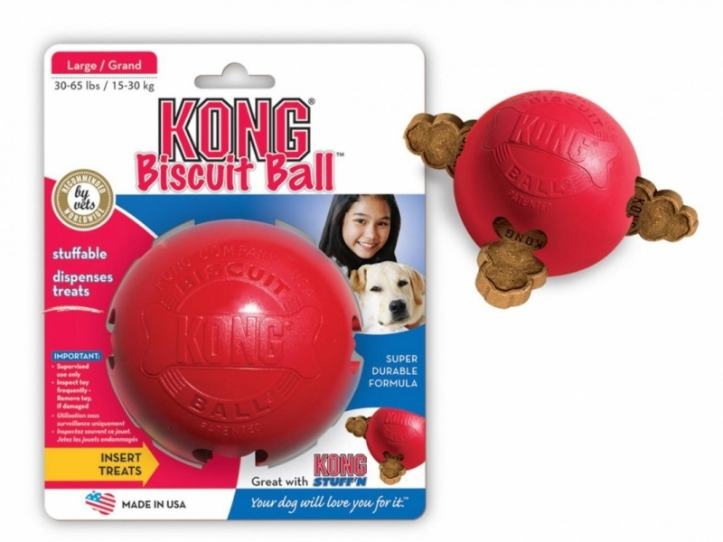 Играчка за кучета Kong Biscuit Ball Small