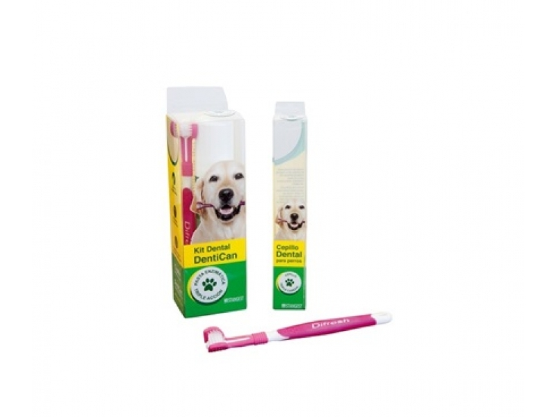 ДЕНТАЛЕН КОМПЛЕКТ Енизмна паста за зъби за Кучета с ПАПАИН + Четка