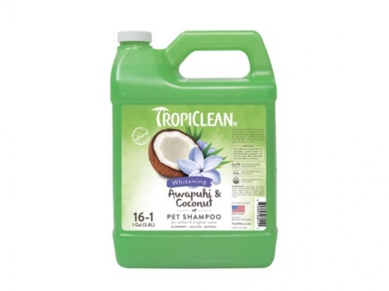 Шампоан за бяла и лъскава козина - Tropiclean Awapuhi and Coconut Shampoo_3,8L
