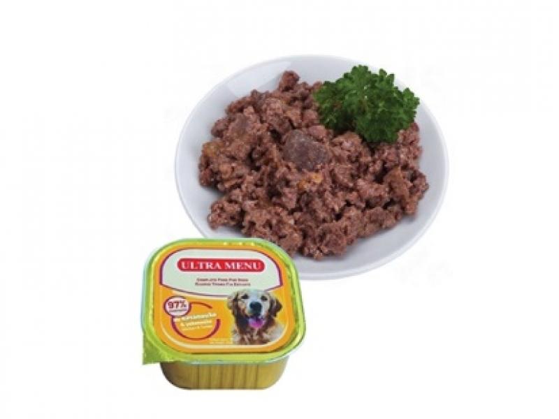 Премиум консервена храна  с 97% месо - ПИЛЕ и ПУЙКА ULTRA MENU ALUCUPS CHICKEN and TURKEY