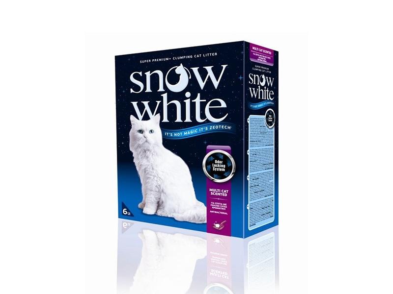 Котешка тоалетна - Snow White Multi Cat Scented 6L