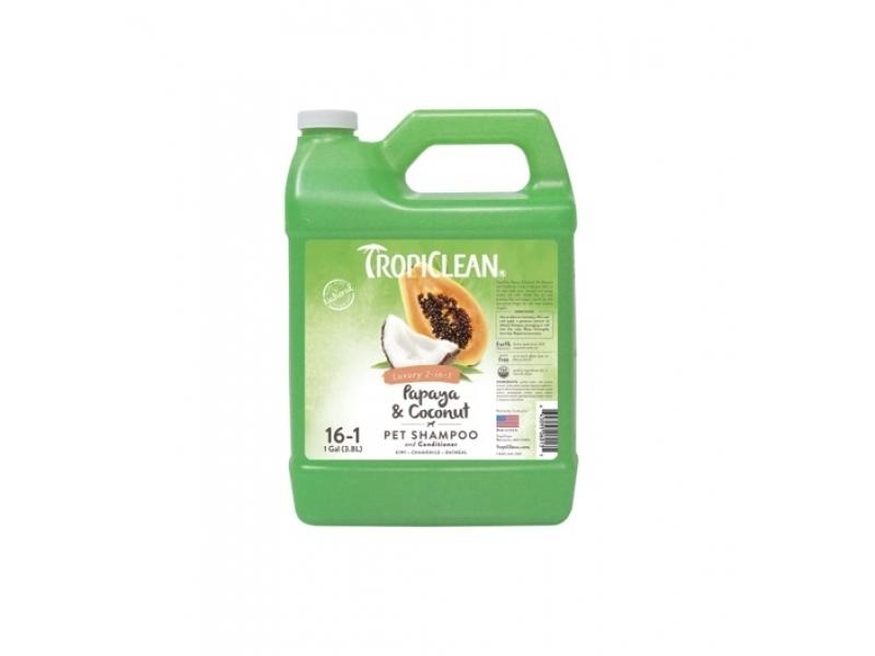 Шампоан за лесно разресване и против заплитания с Папая и Кокос - Tropiclean 2 in 1 Papaya and Coconut Shampoo & Balsam_3,8L