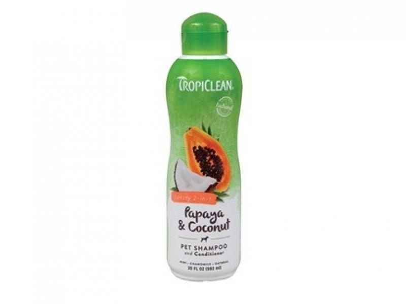 Шампоан за лесно разресване и против заплитания с Папая и Кокос - Tropiclean 2 in 1 Papaya and Coconut Shampoo & Balsam