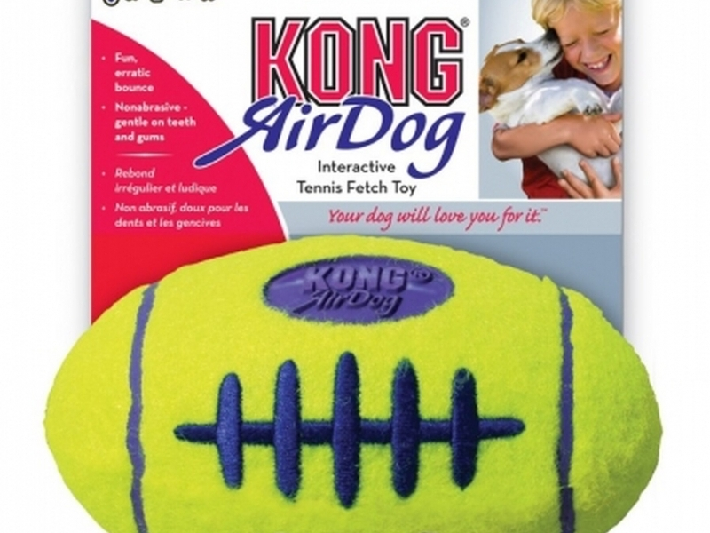Играчка за кучета Kong AIR SQUEAKER FOOTBALL Medium