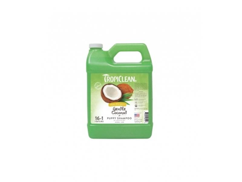 Шампоан - Хипоалергичен за чуствителна кожа с Кокос - Tropiclean Gentle Coconut Shampoo_3,8L