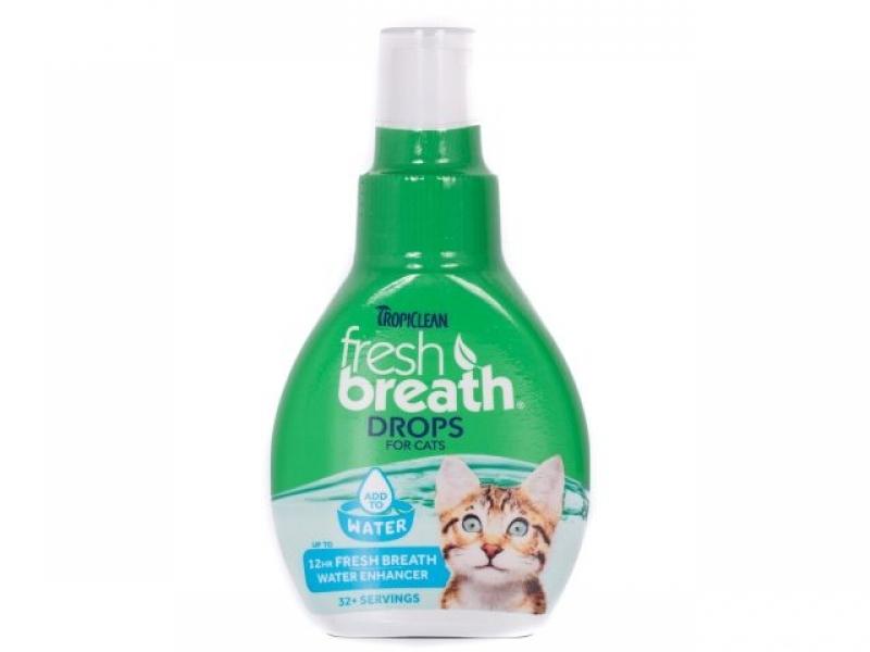 TROPICLEAN DROPS for CAT  – ДОБАВКА ЗА ВОДА за подобряване дъха на домашния любимец _65 ml