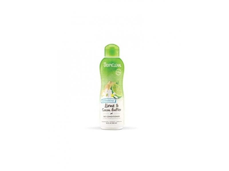 Балсам - намалява падането и заплитането на козината с Лимон и Какаово масло - Tropiclean Lime and Cocoa Butter Conditioner