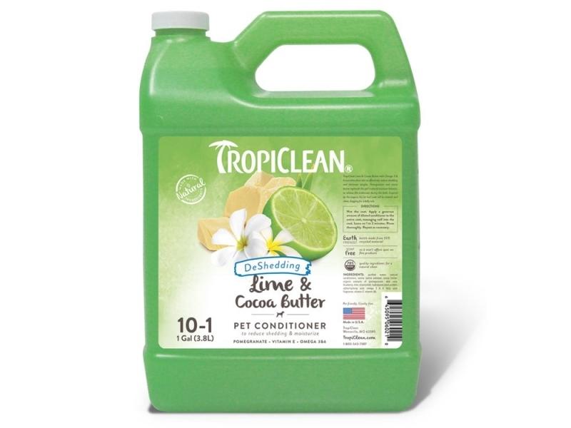 Шампоан - намалява падането на козината с Лимон и Какаово масло - Tropiclean Lime and Cocoa Butter Shampoo_3,8L