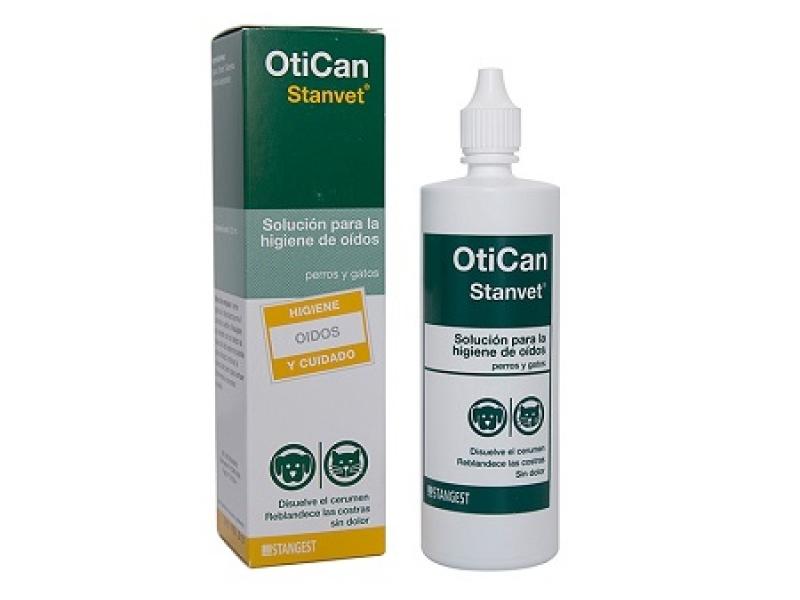 Почистващ разтвор за уши за Кучета и Котки  OTICAN 125 ml