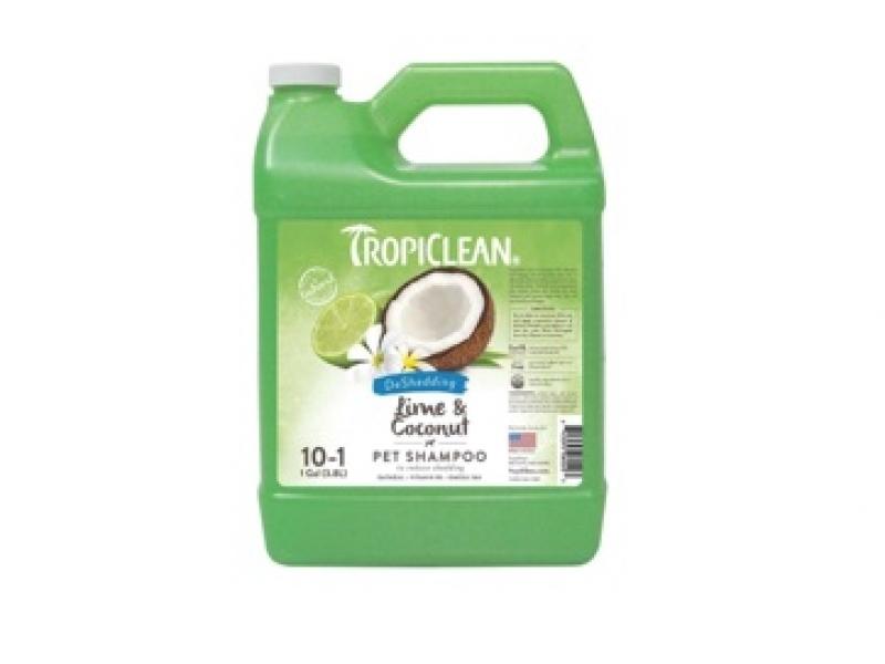 Шампоан - намалява падането на козината с Лимон и Кокос - Tropiclean Lime and Coconut Shampoo_3,8L
